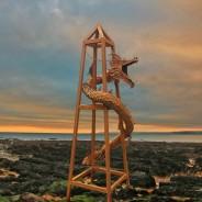 Tom May - Finished dragon obelisk at seaside