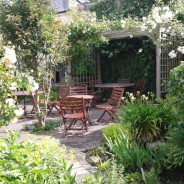 Tranquil garden at Harbour House